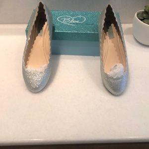 Betsey Johnson glitter ballet flats